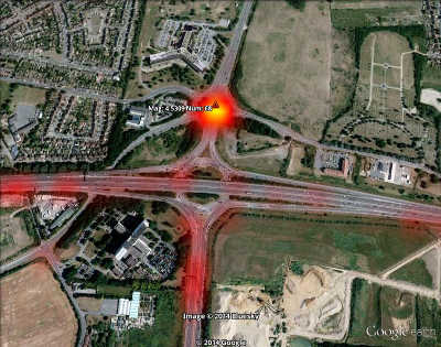 Screenshot of Cherry Lane Roundabout hotspot