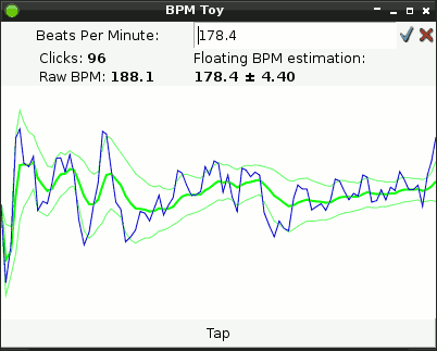 BPM tap toy screenshot